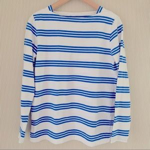 Vineyard Vines blue white stripe long sleeve shirt